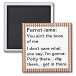 Funny Ferret-ism Quotes Refrigerator Magnet
