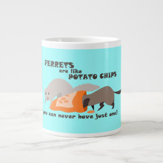 Funny Ferret Mug: Can Never Have Just One 20 Oz Large Ceramic Coffee Mug