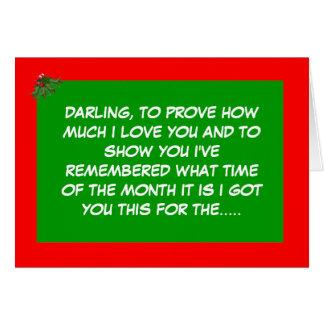 Funny festive period greeting card