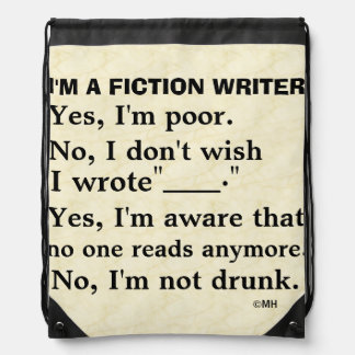Funny Fiction Writer Answer Sheet Drawstring Bag