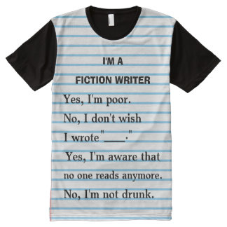 Funny Fiction Writer Answer Sheet for Authors All-Over Print T-shirt