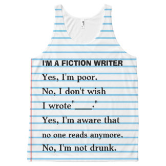 Funny Fiction Writer Answer Sheet for Authors All-Over Print Tank Top