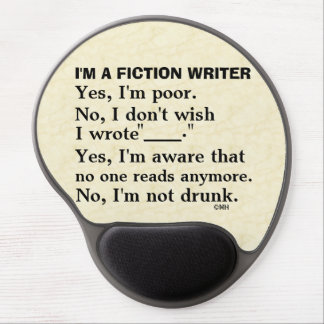 Funny Fiction Writer Answer Sheet Gel Mouse Pad