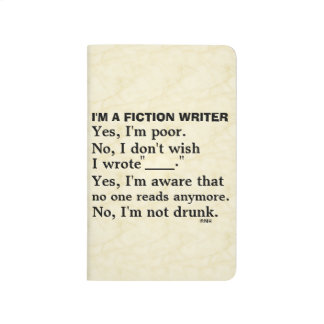 Funny Fiction Writer Answer Sheet Journal