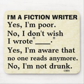 Funny Fiction Writer Answer Sheet Mouse Pad