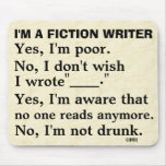 Funny Fiction Writer Answer Sheet Mousepads