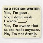 Funny Fiction Writer Answer Sheet Mousepads