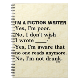 Funny Fiction Writer Answer Sheet Notebook