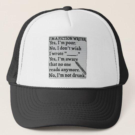 Funny Fiction Writer Answer Sheet Paper Trucker Hat