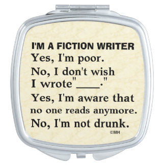 Funny Fiction Writer Answer Sheet Vanity Mirrors