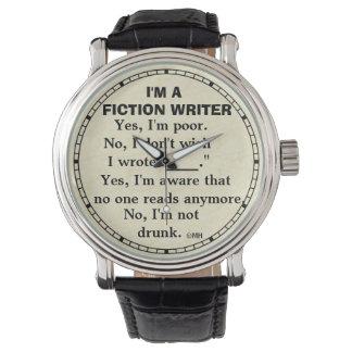 Funny Fiction Writer Answer Sheet Wrist Watches