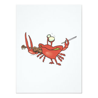 funny fiddler crab cartoon personalized invitations