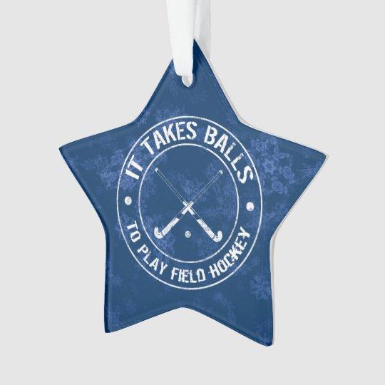 Funny Field Hockey Holiday Ornament | Zazzle.com