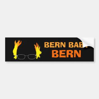 Funny Fiery Hair Bern Baby Bern Bernie Sanders Bumper Sticker