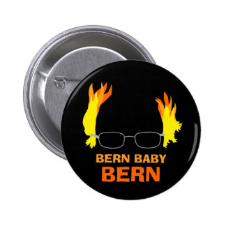 Funny Fiery Hair Bern Baby Bern Bernie Sanders Button