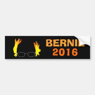 Funny Fiery Hair Bernie Sanders Bumper Sticker