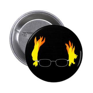 Funny Fiery Hair Bernie Sanders Pinback Button