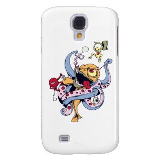 funny fighting alien monsters vector cartoon samsung galaxy s4 covers
