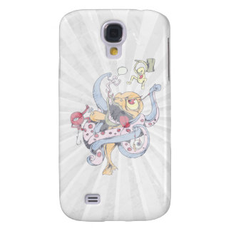 funny fighting alien monsters vector cartoon galaxy s4 cover