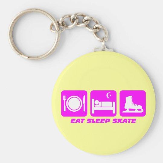 Funny figure skating keychain