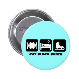 Funny figure skating pinback button