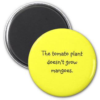 Funny Filipino Proverb Magnet - Tomato Plant