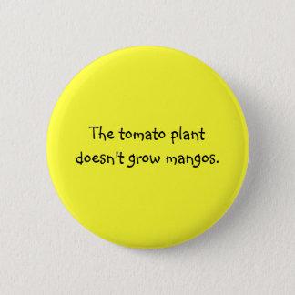 Funny Filipino Proverb - Tomato Plant & Mangoes Pinback Button