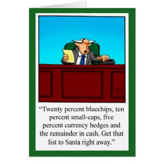 "Funny Financial Humor Christmas Card ""Spectickkes"""