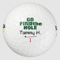 funny find the hole personalized golf balls