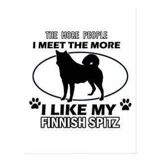 Funny finish spitz designs postcards