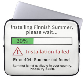Funny Finnish Summer laptop sleeves