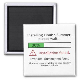 Funny Finnish Summer magnet