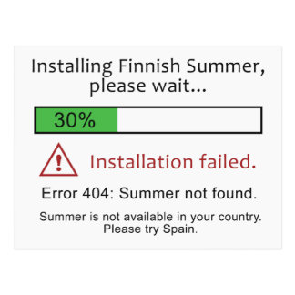 Funny Finnish Summer postcard