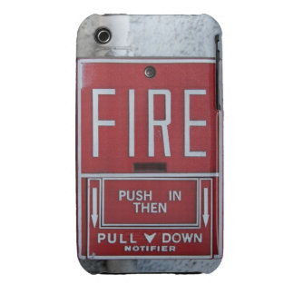 Funny Fire Dept Emergency Fire Pull Station iPhone 3 Cover