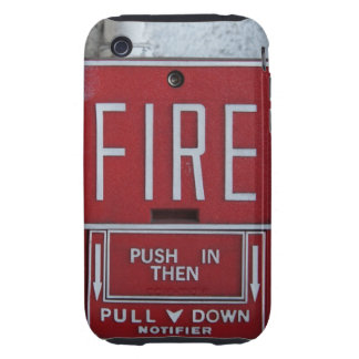 Funny Fire Dept Emergency Fire Pull Station Tough iPhone 3 Cover