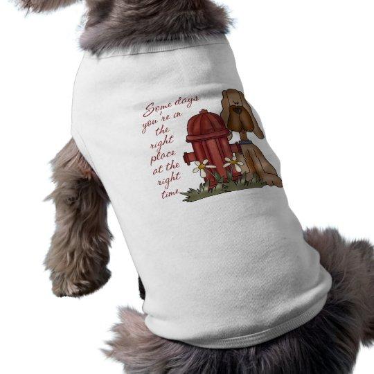 Funny Fire Hydrant Dog T-Shirt