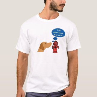 Funny fire hydrant pup shirt
