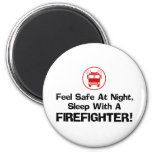 Funny Firefighter 2 Inch Round Magnet