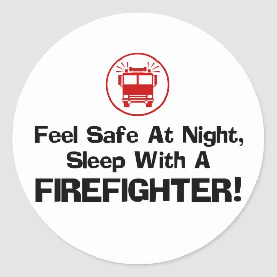 Funny Firefighter Classic Round Sticker