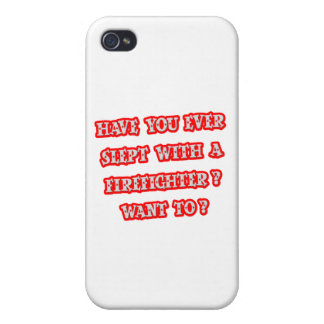 Funny Firefighter Pick-Up Line iPhone 4 Case