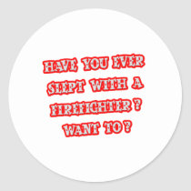 Funny Firefighter Pick-Up Line Stickers