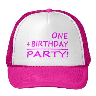 Funny First Birthdays : One + Birthday = Party Trucker Hat
