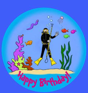 funny scuba diver crafts party supplies zazzle