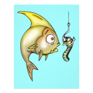 Funny Fish And Worm Custom Flyer