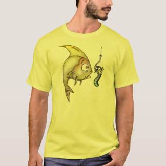 Funny Fish And Worm T-Shirt