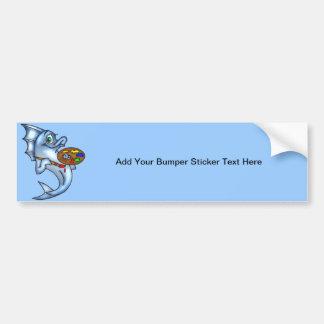 Funny Fish Artist Bumper Sticker