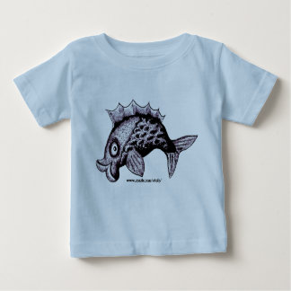 Funny fish baby t-shirt design