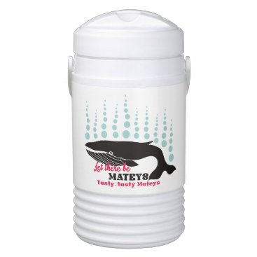 Beach Themed Funny fish boating killer whale tasty mateys cooler