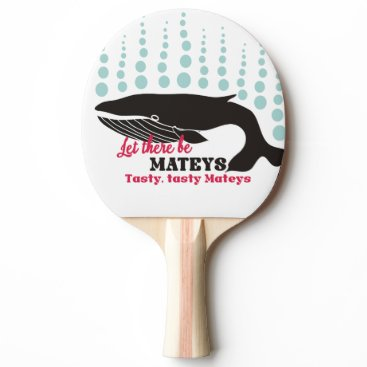 Beach Themed Funny fish boating killer whale tasty mateys ping pong paddle