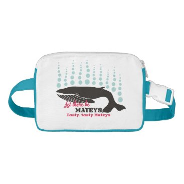 Beach Themed Funny fish boating killer whale tasty mateys waist bag